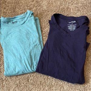 Two men's express tee shirts